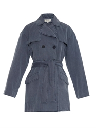 Vanessa Bruno Cotton And Linen Blend Trench Coat
