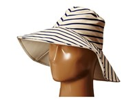 Hat Attack Canvas Reversible Sunhat Navy Stripe Traditional Hats