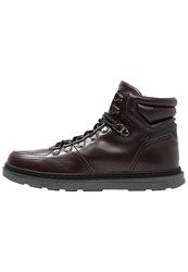Your Turn Laceup Boots Bordeaux Brown
