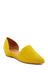 Sixtyseven Erin Leather D'orsay Flat Yellow