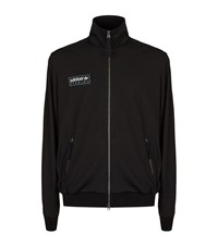 Adidas Quilted Zip Up Top Male Black