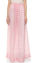 Rochas Gingham Skirt Light Pastel Pink