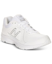 New Balance Men's 411 Wide Walking Sneakers From Finish Line White
