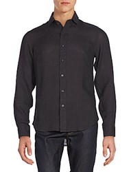 Ralph Lauren Black Label Sloan Linen Sportshirt Black