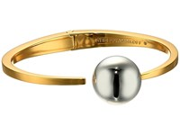 Rebecca Minkoff Two Tone Bead Hinge Bangle Bracelet Gold Rhodium Bracelet