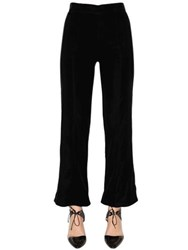 Giorgio Armani Cropped And Flared Velvet Pants