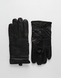 Peter Werth Leather Gloves Black