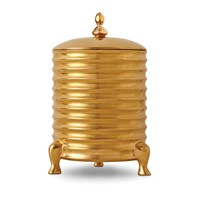 L'objet Han 3 Wick Canister Candle With Lid Gold