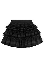 Faith Connexion Tiered Mini Skirt Black