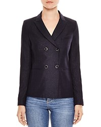 Sandro Kirey Double Breasted Blazer Navy