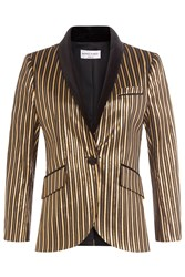 Sonia Rykiel Striped Lame Blazer Stripes