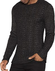 John Varvatos Textured Crewneck Sweater Black