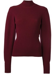 Thierry Mugler Cropped Jumper Red
