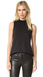 Rag And Bone Hudson Mock Neck Top Black