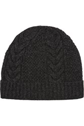N.Peal Cashmere Cable Knit Cashmere Beanie