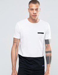 Solid Tailored And Originals T Shirt With Contrast Hem Black