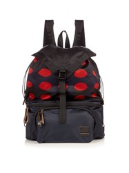 Marni X Porter Pop Print Belt Bag Backpack Navy Multi