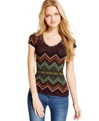 Energie Juniors' Printed Reversible Tee Black Chevron