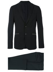 Z Zegna Fitted Business Suit Black