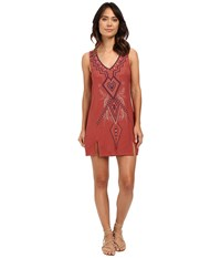 O'neill Cynthia Vincent Sunlit Dress Terracotta Women's Dress Orange