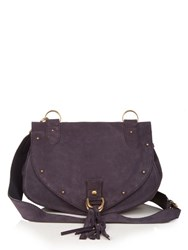 See By Chloe Collins Medium Leather And Suede Cross Body Bag Navy