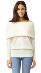 Acne Studios Daze Mohair Sweater Pearl White