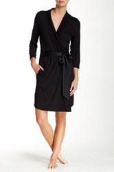 Fleurt Take Me Away Short Robe Black
