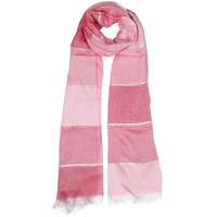 Dents Ladies Tonal Striped Woven Scarf Rose