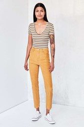 Bdg Girlfriend Corduroy High Rise Pant Yellow