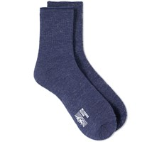 Mt. Rainier Design Reversible Sock Blue