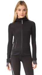 Adidas By Stella Mccartney Fleece Zip Up Jacket Black