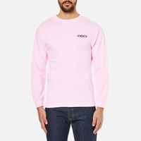 Obey Clothing Men's Mother Earth Long Sleeve T Shirt Pink
