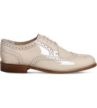 Office Poste Billie Leather Brogues Nude Patent Leather