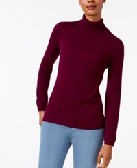Charter Club Petite Cashmere Turtleneck Sweater Only At Macy's Black Cherry