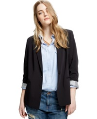 Violeta By Mango Plus Size One Button Blazer