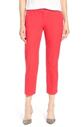 Halogenr Petite Women's Halogen Slim Stretch Cotton Blend Ankle Pants Red Barberry