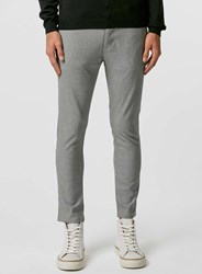 Topman Black And White Dogtooth Stretch Skinny Chinos
