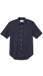 Our Legacy Silk Classic Shirt Dark Navy