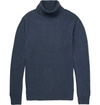 Hardy Amies Cashmere Rollneck Sweater Blue
