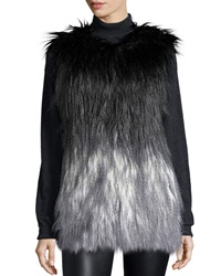 Generation Love Zia Degrade Faux Fur Vest Black Gray