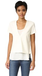 Theory Zadeia Top Warm Ivory