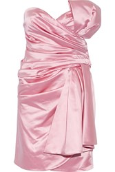Moschino Cotton Blend Satin Mini Dress Pink