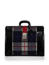 Dsquared Leather Doctor's Bag Plaid Multi