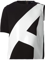 Anthony Vaccarello One Sleeve A Print T Shirt