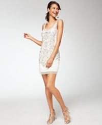 Adrianna Papell Beaded Sequin Sheath
