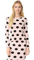 Natasha Zinko Knit Polka Dot Sweater Toasted Almond