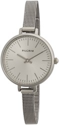 Pilgrim Silver Plated Watch Metallic