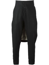 Lost And Found Back Flap Tapered Trousers Black