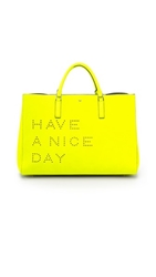 Anya Hindmarch Have A Nice Day Ebury Maxi Tote Neon Yellow
