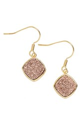 Women's Elise M. 'Phoebe' Square Drusy Drop Earrings Rose Gold